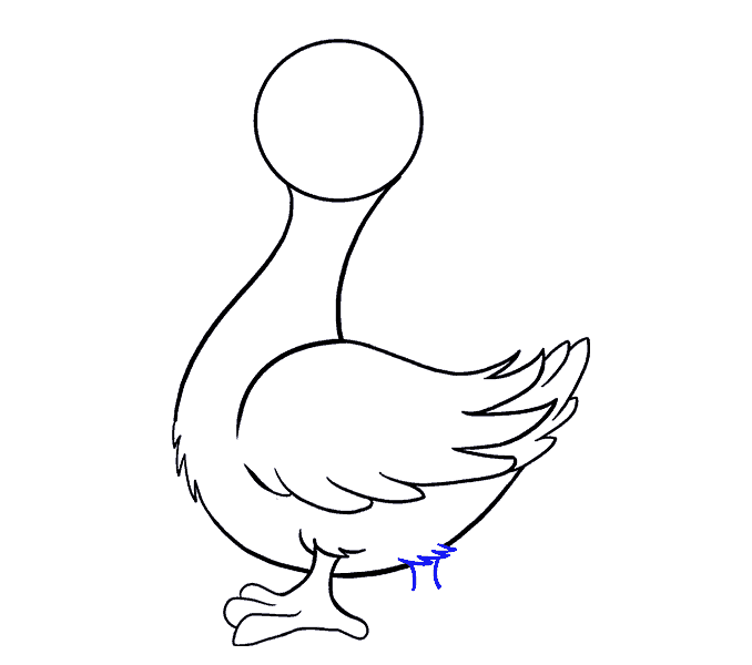 How to draw a duck Step: 12