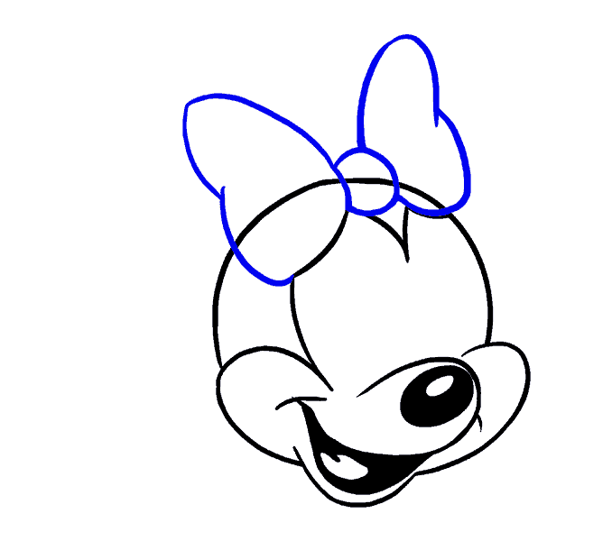 How to Draw Minnie Mouse: Step 12