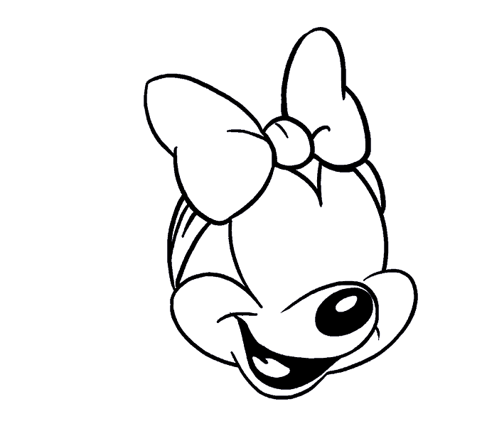 How to Draw Minnie Mouse: Step 14