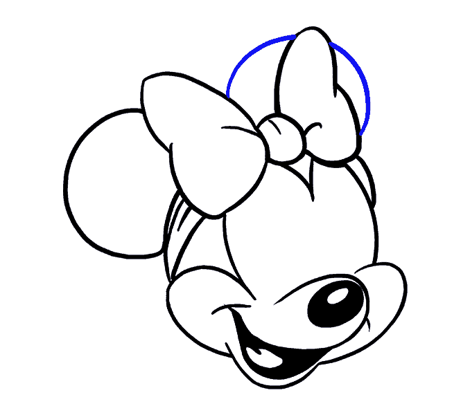 How to Draw Minnie Mouse: Step 16