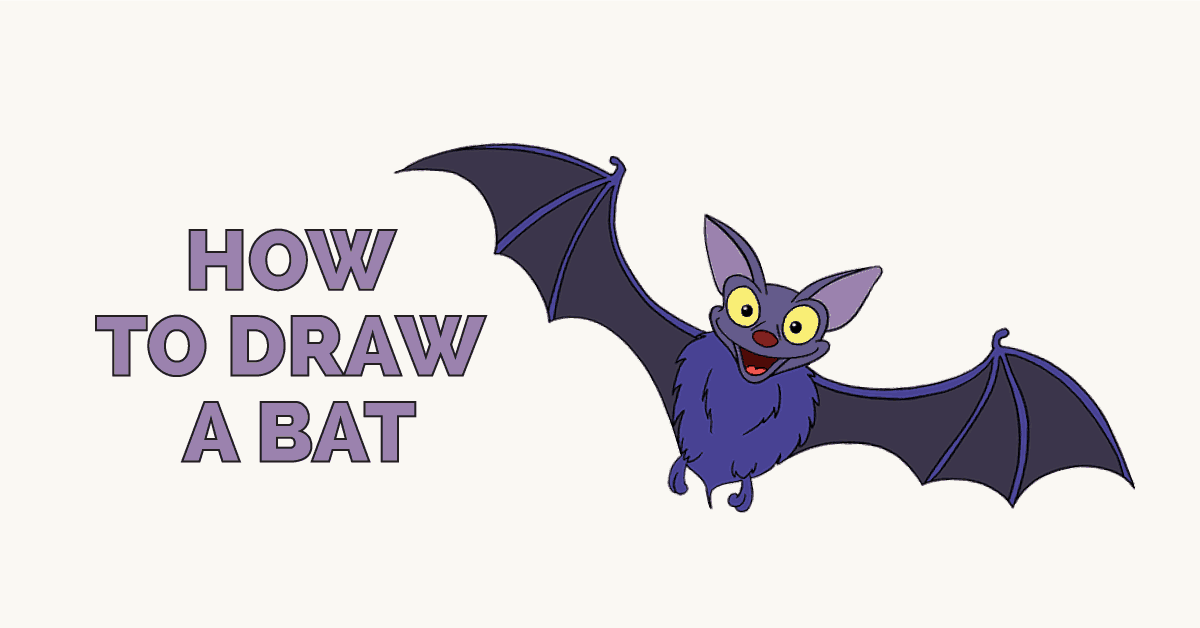 How To Draw A Bat In A Few Easy Steps Easy Drawing Guides