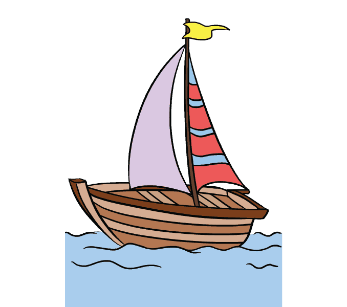 How to Draw Boat: Step 20