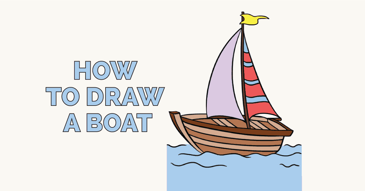 How To Draw A Boat In A Few Easy Steps Easy Drawing Guides