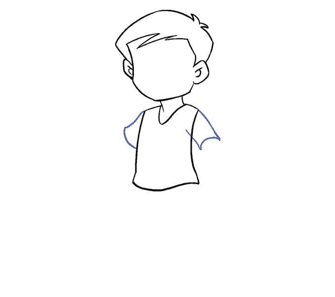 Kako nacrtati dječaka: 7. korak