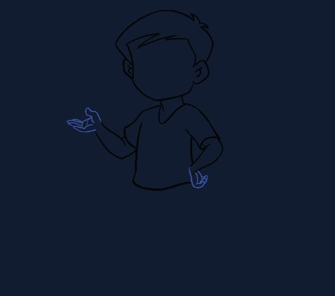 Kako nacrtati dječaka: 11. korak