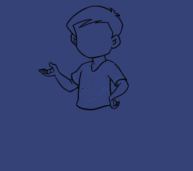 Kako nacrtati dječaka: 12. korak