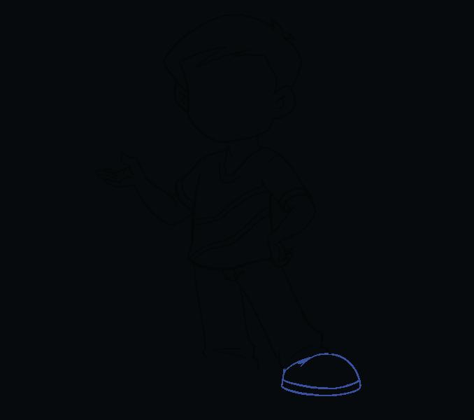 Kako nacrtati dječaka: 15. korak