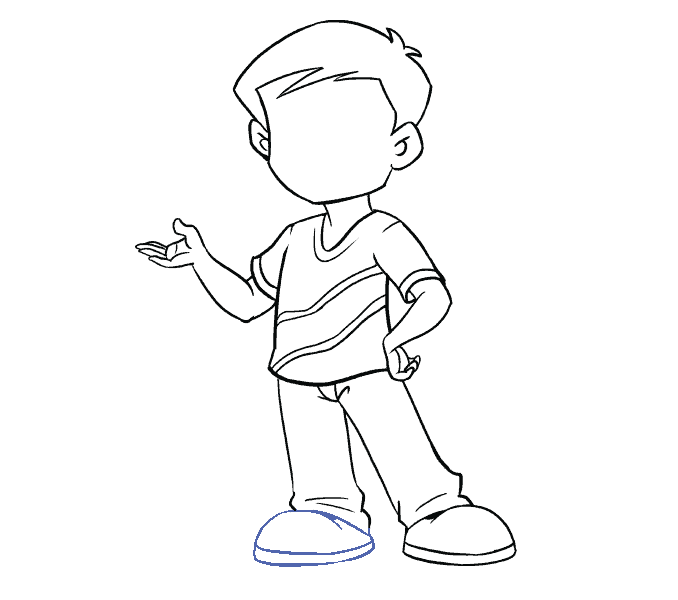 How to Draw Boy: Step 16