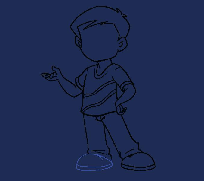 Kako nacrtati dječaka: 16. korak