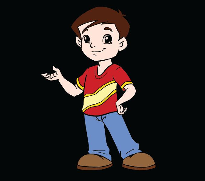 Kako nacrtati dječaka: 20. korak