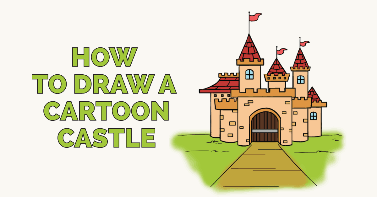 How to Draw a Cartoon Castle: Featured Image