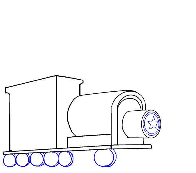 How to Draw Train: Step 10