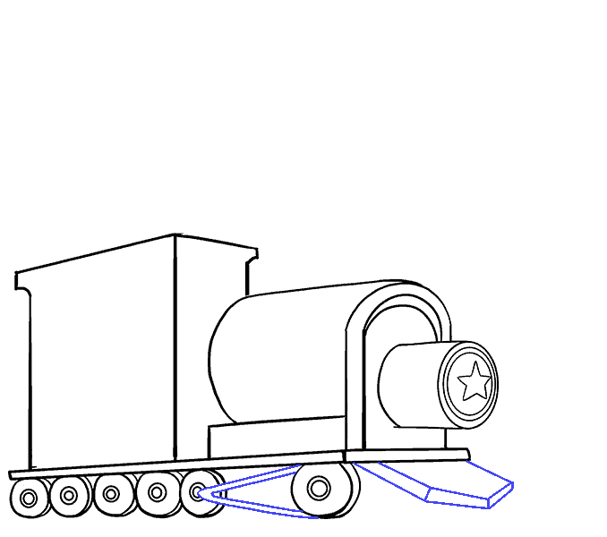 How to draw a train Step: 12