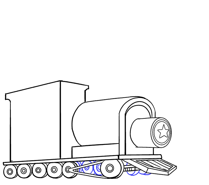 How to draw a train Step: 14