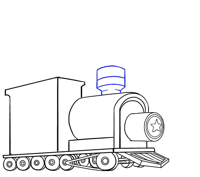 How to Draw Train: Step 15