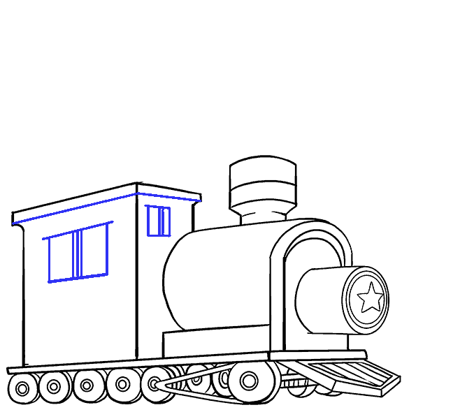 How to Draw Train: Step 16