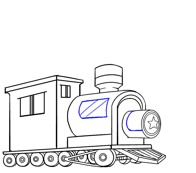 How to draw a train Step: 17
