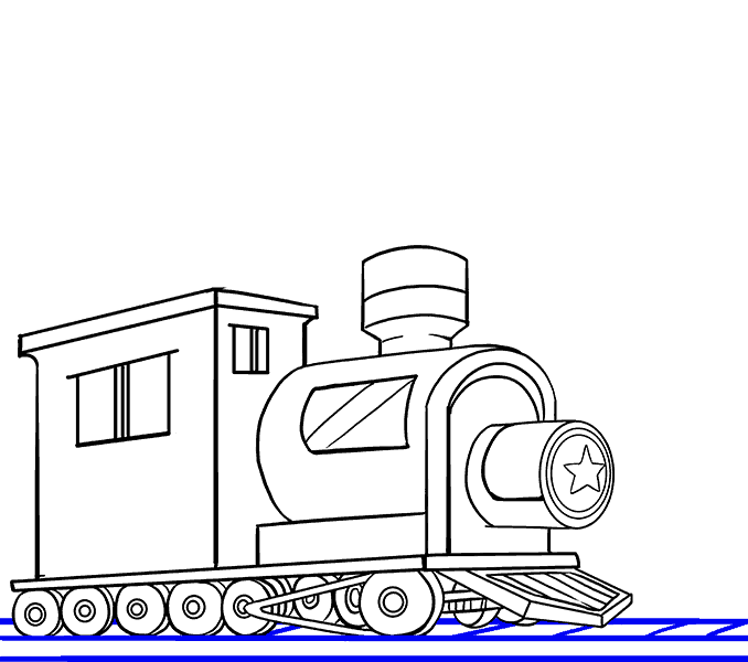 How to draw a train Step: 18