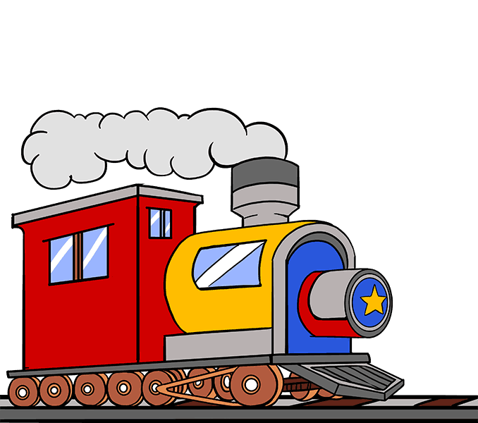 How to Draw Train: Step 20