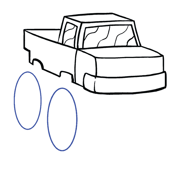 How to Draw Monster Truck: Step 9