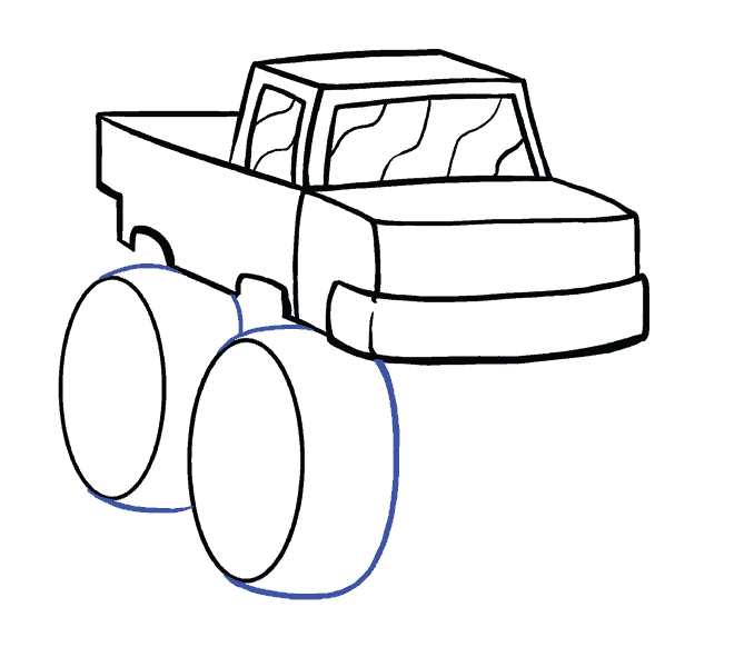 How to Draw Monster Truck: Step 10
