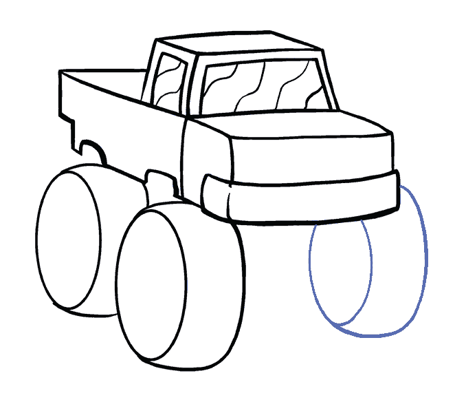 How to Draw Monster Truck: Step 11