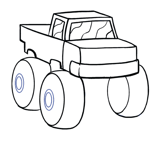 How to Draw Monster Truck: Step 12