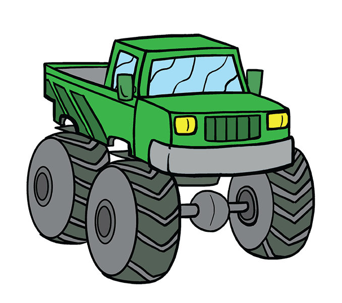 How to Draw Monster Truck: Step 20