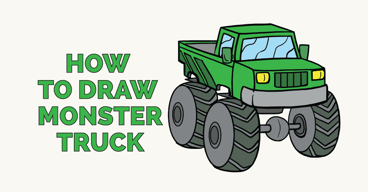 How to Draw a Monster Truc: Featured Image