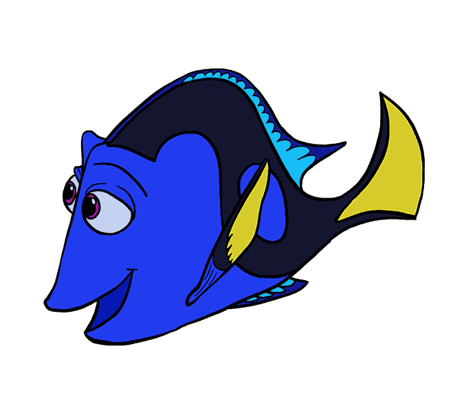 How to Draw Dory: Step 20