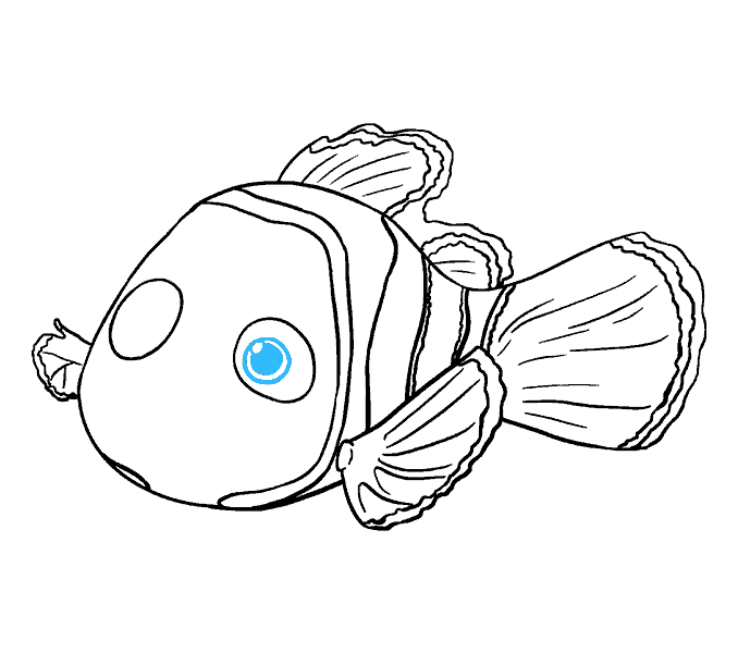 How to Draw Nemo: Step 16