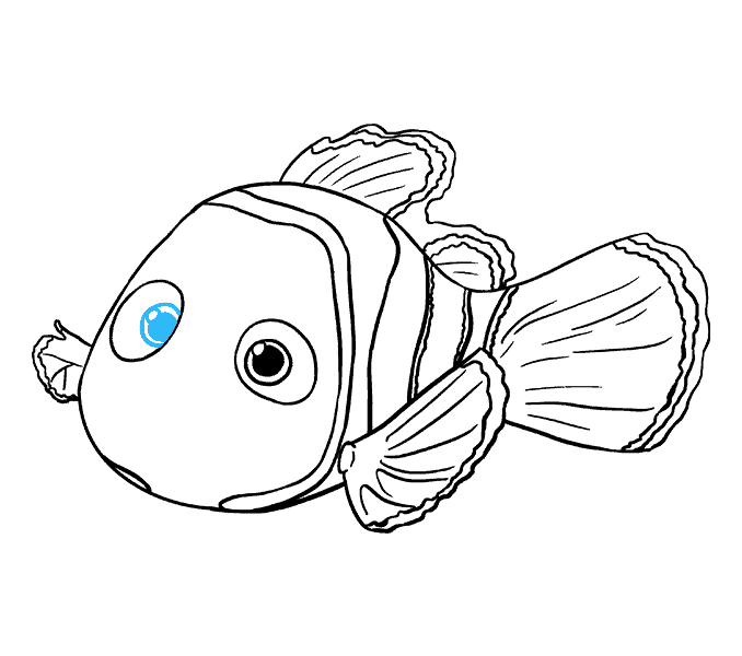 How to Draw Nemo: Step 17
