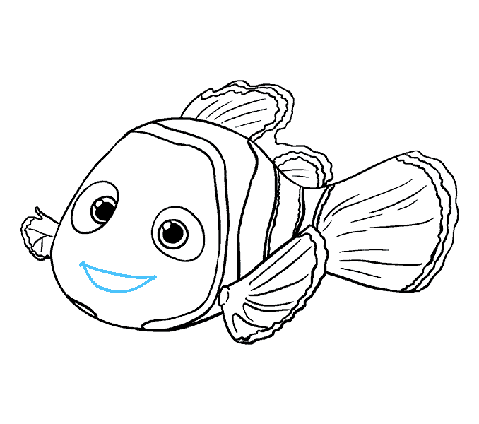 How to Draw Nemo: Step 18