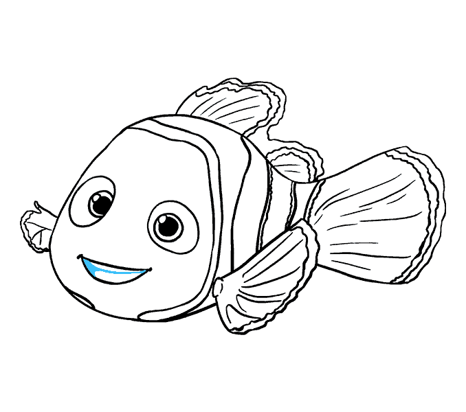 How to Draw Nemo: Step 19