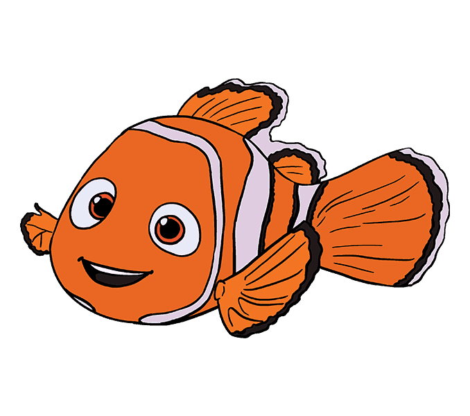 How to Draw Nemo: Step 20