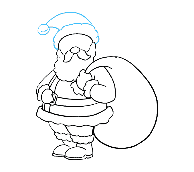 How to Draw Santa Claus: Step 17