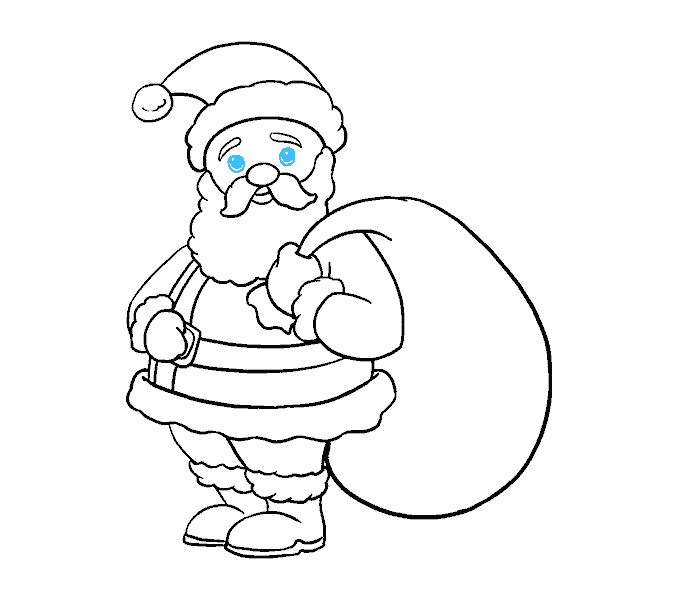 How to Draw Santa Claus: Step 19