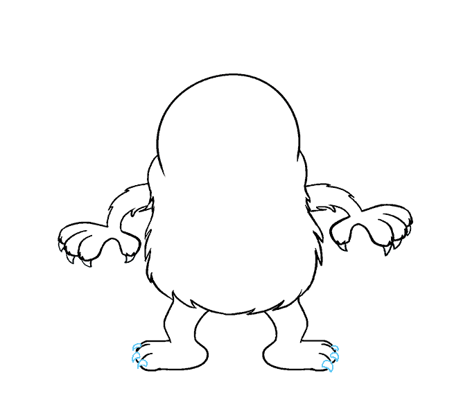 How to Draw Cartoon Monster: Step 11