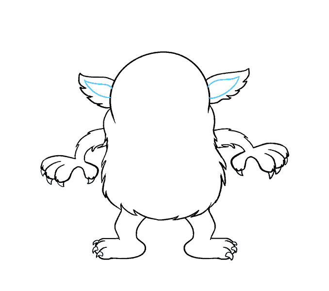 How to Draw Cartoon Monster: Step 14