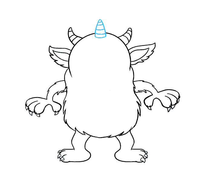 How to Draw Cartoon Monster: Step 17