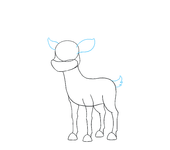 How to Draw Cartoon Reindeer: Step 10