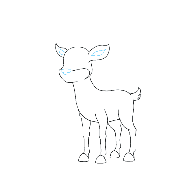 How to Draw Cartoon Reindeer: Step 12