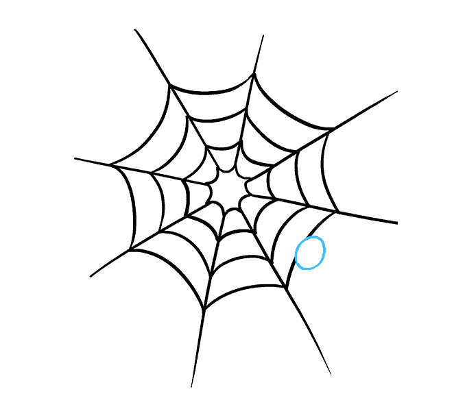How to Draw Spider Web with Spider: Step 8
