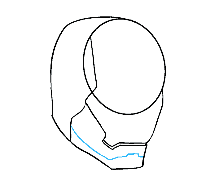 How to Draw Iron Man's Mask: Step 6