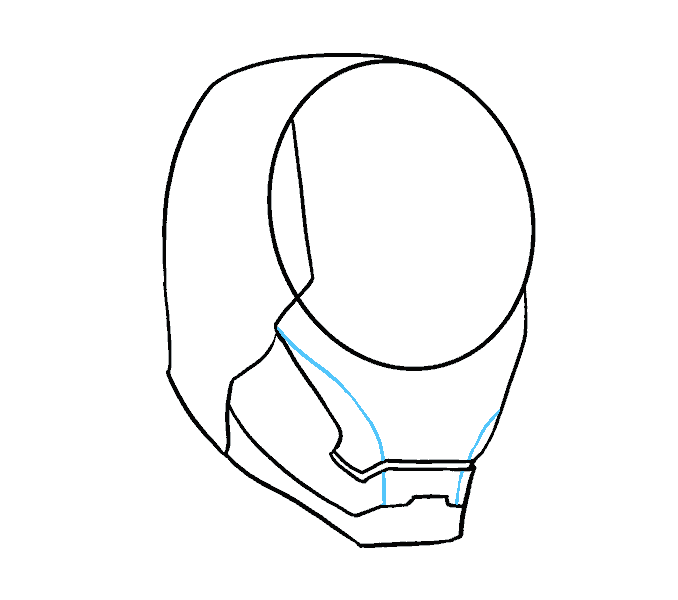 How to Draw Iron Man's Mask: Step 7