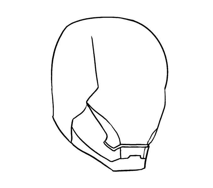 how to draw iron mans mask Step: 8