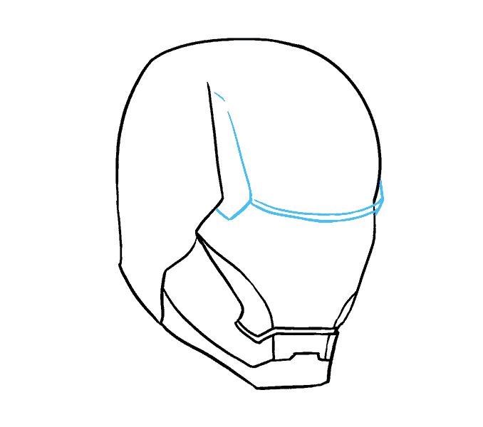how to draw iron mans mask Step: 9