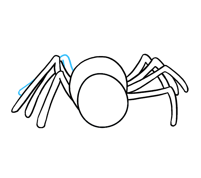 How to Draw Cartoon Spider: Step 10