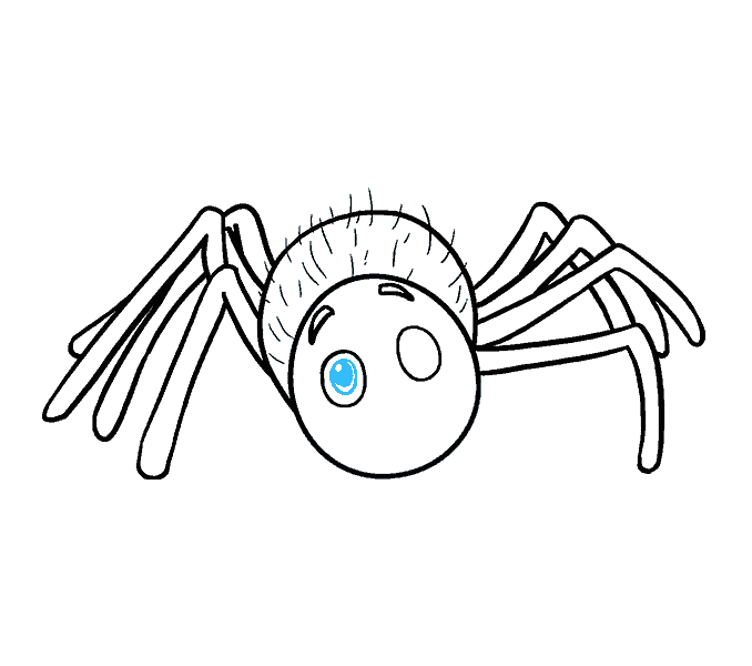 How to Draw Cartoon Spider: Step 15