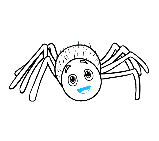 How to Draw Cartoon Spider: Step 17